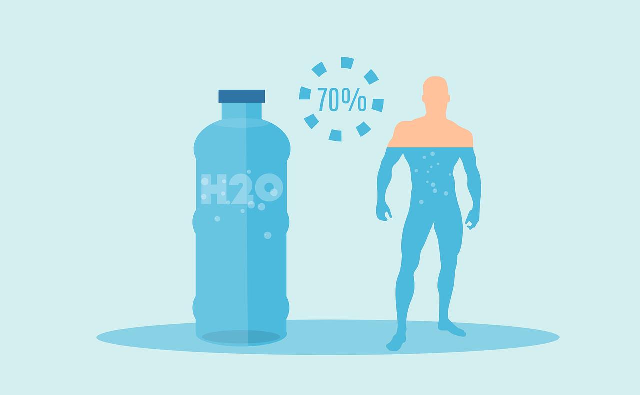 Nuestro cuerpo es un 70% agua